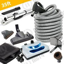 "Central Vacuum Delux Electric Powerhead 35"" Hose and Cleaning Tools Kit"