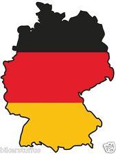 DEUTSCHLAND GERMANY SILHOUETTE MAP FLAG BUMPER STICKER  HARD HAT STICKER