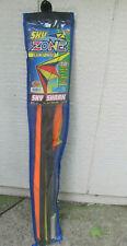 Sky Zone Easy to Assemble Nylon Sky Shark 53x22.5 Stunt Kite w/ Dual Winders