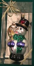 Birgit Old World Christmas Ornament 134 Germany Grandfathers Snowman Inge-Glas