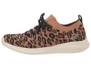 SKECHERS ULTRA FLEX - SAFARI TOUR Women's Athletic Sneakers 13128 LEOPARD