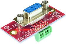 DB9 COM Port RS232 Breakout Boards (Female)  vertical eLabGuy D9-F-BO-V1AV