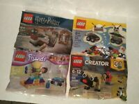 Lot of 4 Lego Creator Robot 3in1, Pug 3in1, Harry Potter, and Friends Gymnastics