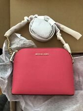 70181a98401f60 NWT Genuine Michael Kors Cindy LARGE Leather Crossbody Handbag RRP 195 Rose  Pink