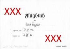 Flugbuch + Journal intime de Horst rippert (scan-CD), 1941-42, saint-Exupéry