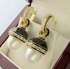 SALE ! FASCINATING EARRINGS HANDMADE OF STERLING SILVER 925 WITH WHITE PEARL