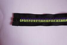 Zippers Moulded Plastic, Jacket,  Size D , Open End, 81, Alphabet, Letters