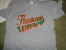 80 XL Tag L fit VTG Rayon Tri blend Miami Canes Hurricanes baseball t-shirt SOFT