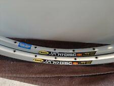 """Pair Mavic XC717 Disc SSC 26"""" Rim Clincher Silver 32H MTB Mountain Bike"""