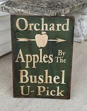 Primitive Country Apple Orchard Sign Farmhouse Decor