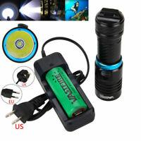 Scuba 10000Lm XM-L T6 LED Diving Flashlight Waterproof 100M Torch 26650 Lamp