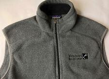 Patagonia Men Synchilla® Fleece Light Grey Full Zip Stand-Up Collar Vest Large