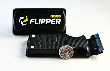 "FLIPPER NANO AQUARIUM ALGAE MAGNET CLEANER FOR GLASS TANKS UP TO 1/4"" THICK"