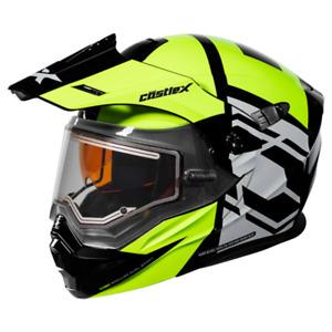 Castle X EXO-CX950 Hex Snowmobile Helmet w/ Electric Shield - Hi-Vis/Black