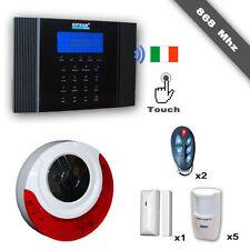 Antifurto 868 Mhz senza fili GSM Kit Allarme Wireless casa guida vocale italiano