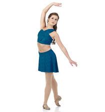 Goddess Child XL Lyrical Ballet Dance Costume Dress New Teal Captivating