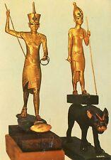 Alte Kunstpostkarte - Tutankhamen's Treasures - Gold statuettes of the King