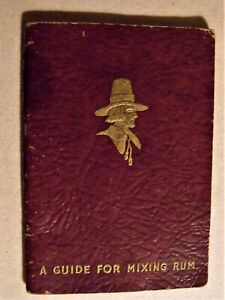 MIXOLOGY Rare 1936 PILGRIM RUM RECIPE BOOKLET 48 pgs BOSTON MA Felton & Son