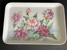 Vintage Peony Flower Melamine Tray Pastel Peony Tray WilderMelPlus By R2S Italy