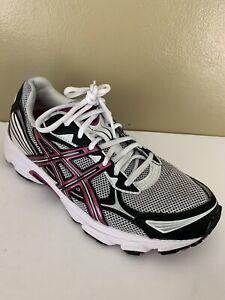 Asics GEL-Galaxy 5 Women's White/Berry/Black Running Shoes Size 10 - T281N