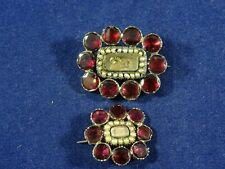 Pearl Brooch / Pin, Matching Set. Beautiful Rare Georgian 14ct Gold Garnet &