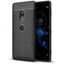 NALIA Sony Xperia XZ2 Leather Look Silicone Case, Thin Protective Phone Cover