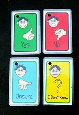 Yes No Choices - Autism Special Needs Communication Flash Cards Sen Adhd