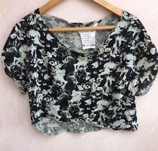 Ladies Green/Black Short Top Size 14 Topshop<NH5914