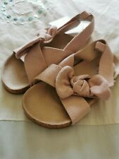 Girls Pink H&M Bow Sandals - Sz 7 - BNWT