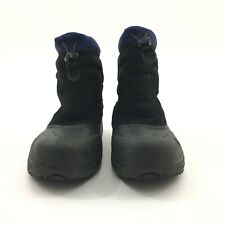 The North Face Kids Sz 5 Snow Boots Used Black And Blue Waterproof