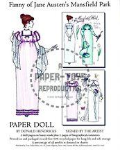 Reprint - Fanny Of Jane Austen'S Mansfield Park Paper Doll - Donald Hendricks