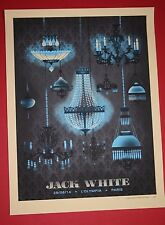 JACK WHITE TOUR POSTER L'OLYMPIA PARIS FRANCE PRINT METHANE STUDIOS MEG STRIPES