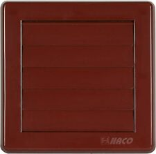 """Air Vent Grille Cover 5 Gravity Flaps 150x150mm (6x6"""") BROWN Ø100mm (4"""") Ducting"""