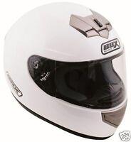 BOX BX-1 FULL FACE MOTORCYCLE MOTORBIKE HELMET GLOSS BLACK, MATT BLACK, WHITE