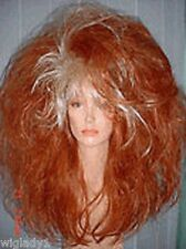 **WIGS DRAG QUEEN VEGAS LOOK LONG STRAIGHT FROSTED RED