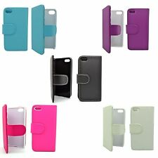 FOR APPLE IPHONE 4/4S WALLET PU LEATHER IN VARIOUS COLORS COVER CASE