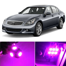 13 x Premium Hot Pink LED Lights Interior Package Kit for Infiniti G37 Q50 Sedan