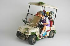 "Large Guillermo Forchino Comic The Buggy Buddies GolfCar 15"" Figurine Sculpture"