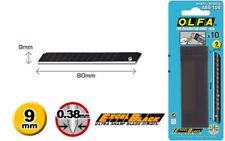 10 x GENUINE OLFA ABB-10B, EXCEL BLACK ULTRA SHARP 9mm SNAP OFF UTILITY BLADES