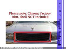 GTG Fits: 1997 - 1999 Cadillac Deville 1PC Gloss Black Billet Grille Insert