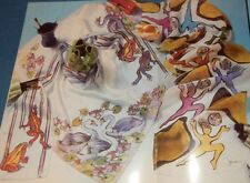 Painting Silk Scarves Instruction Chickens Southwest Cow Swans Moon Star Western