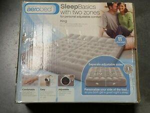 Aerobed Sleep Basics 2 Zone - King Air Bed w 120 Volt Air Pump | New | DMG Box 2