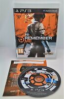 Remember Me Video Game for Sony PlayStation 3 PS3 PAL TESTED
