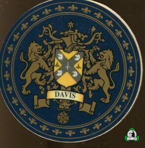 English Heraldic Coaster: Davis (Type 1)