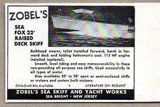 1954 Print Ad Zobel's Sea Fox 22' Raised Deck Skiff Boats Sea Bright,NJ