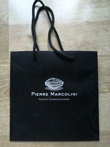 Pierre Marcolini Paper Gift Bag luxury chocolate brand Belgian cake tart cocoa