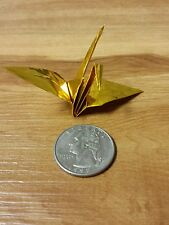 "100 Shiny Gold Foil Folded Origami Paper Cranes Favors Good Luck Wedding 3""x 3"""