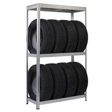 Reifen oder Werkzeug Regal aus verzinktem Stahl, Ständer zur Aufbewahrung Eaxus