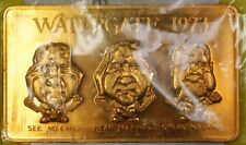 1973 Watergate Solid Bronze Limited Edition Scarce Bar Uncirculated with COA