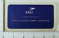 1940's-50's British Overseas Airways Corporation Luggage Label Poster Stamp E9